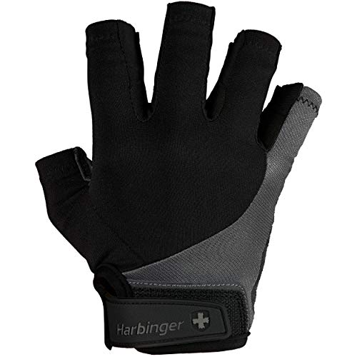 1 Pair Leather - Harbinger Men's BioFlex Elite Weightlifting Gloves with Padded Leather Palm (1 Pair), Large (Fits 8-8.5 inches)