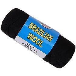 Brazilian Wool Hair For African Hair Braiding Sengalese Twisting (Black)