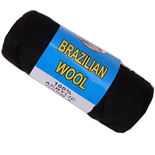 Price comparison product image Brazilian Wool Hair For African Hair Braiding Sengalese Twisting (Black 70g)