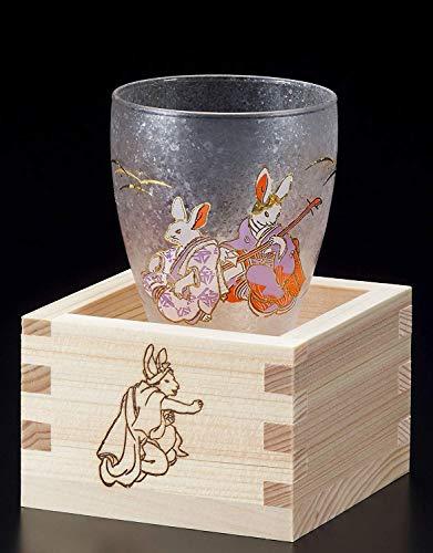 Aderia Japan Rabbit MasuZake Glass (Japanese Sake Glass) w/Masu Box''promotion and advancement'' 6784 by Aderia Japan (Image #6)