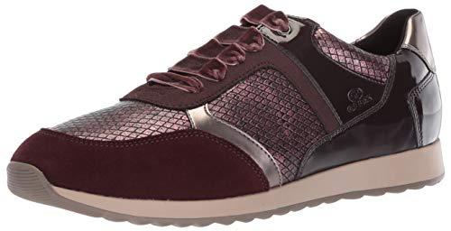 Geox Women's Deynna 6 Snake Print Fashion Sneaker, Dark Burgundy, 35 Medium EU (5 - Snake Womens Geox