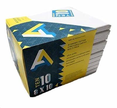 Art Alternatives 9 x 12 Economy Artist White Canvas Super Value Pack-Pack of 7