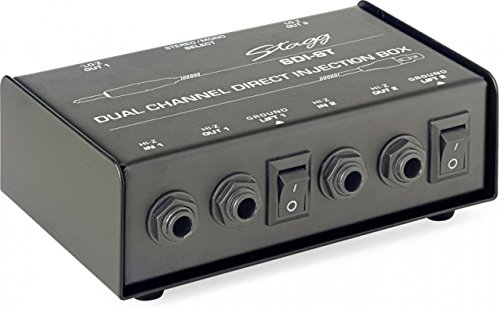 Stagg SDI-ST 2-Channel Passive DI Box with Mono/Stereo Switch by Stagg