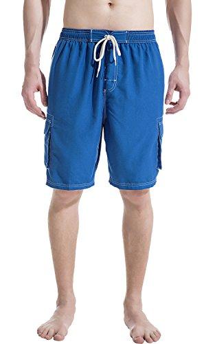 - Akula Mens Quick Dry Bathing Swim Trunks with Flex Drawstring Swimwear Royal Size XL