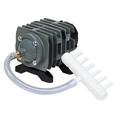 O2 Commercial Air Pump, 571 gph 2.47 psi 20watts 120volt Hydroponics,Aquarium,Pond air pump