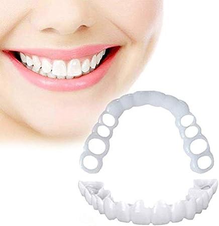 ZLLYT Carillas Dentales Snap On Smile Cosmetic Teeth Dientes Dentaduras Cuidado Bucal Snap on Blanqueamiento Smile Snap-on Braces