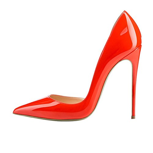 Camouflage for 15 D'orsay Half with Fashion Heels 4 Toe US Print Orangered Women FSJ Pointed High Size Pump Pnx0PZI