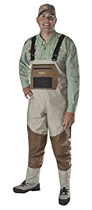 Caddis Men's Attractive 2-Tone Tauped Deluxe Breathable Stocking Foot Wader, Small(DOES NOT INCLUDE BOOTS)