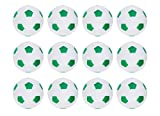 Truscope Sports Foosball Table Soccer Replacement Balls - 36mm - (12 Pack, Green-White)