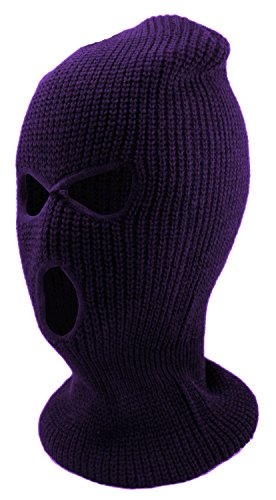 Enimay Three Hole Ski Snowboard Mask Winter Beanie Balaclavas Purple