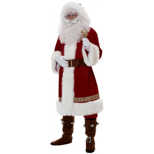 Rubie's Costume Super Deluxe Old-time Santa Suit, Red/White, Standard Costume by Rubie's