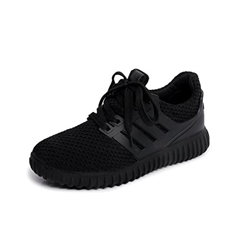 Lace Sneakers Sports Up Womens Mesh Black Flat Magone 4pCwOEqp