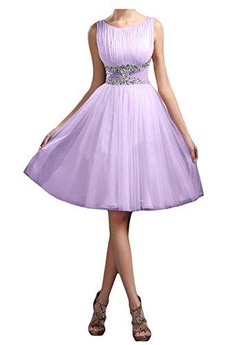 Kleider Jugendweihe Ballkleider mit Kurz La Braut Perlen Pailletten Abendkleider Herrlich Dunkel Lilac Blau mia Cocktailkleider a48Uwzq8Bx