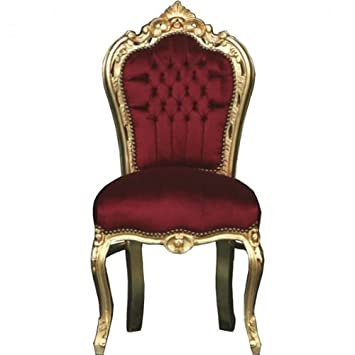 Casa Padrino Barock Esszimmer Stuhl Bordeaux Gold Mobel Amazon De