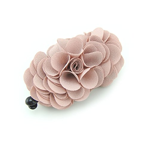 (Meilliwish Flowers Rose Hair Clip Ponytail Holder(H41)(Pink))