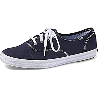 Keds Women's Champion Original Canvas Lace-Up Sneaker, Navy, 5 W US