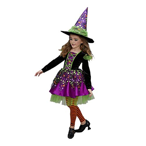 CHASING FIREFLIES Dotty Spiderina Witch Costume for Girls ()