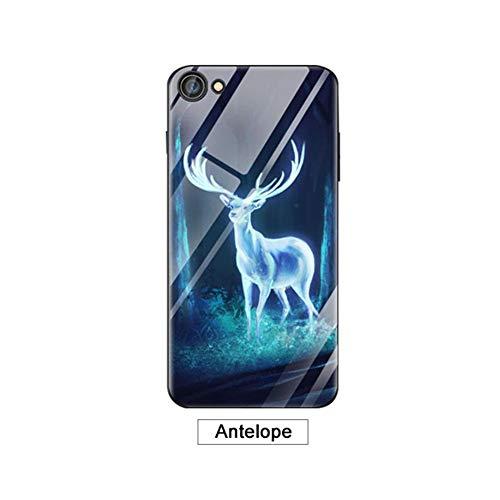 Jannyshop Huawei Nova3E Case Full Cover Soft Luminous Tempered Glass Phone Case for Huawei Nova3E ()