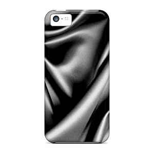 Durable Defender Case For Iphone 5c Tpu Cover(black Silk Sheets)