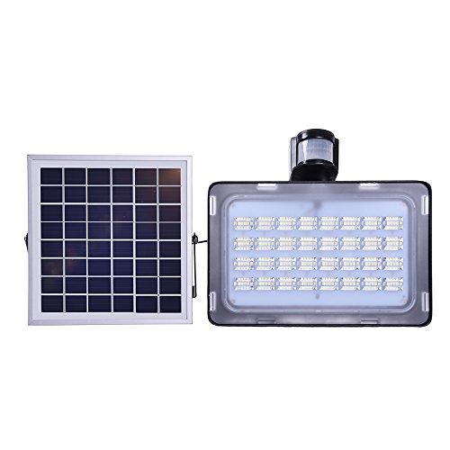 Viugreum Solar Flood Light, 50W 5000LM Outdoor LED Solar Motion Sensor Lights, IP65 Waterproof Security Light for Garden, Garage, Lawn, Pool, Pathway, Wall, Patio, Driveway