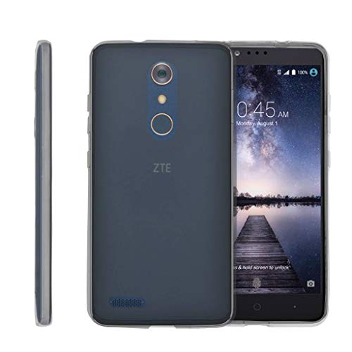 TurtleArmor | Compatible for ZTE ZMax Pro Case | ZTE Blade X Max Case [Flexible Armor] Flexible TPU Case Slim Fitted Soft Armor Cover - Clear