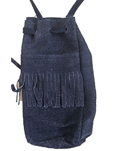 Native Indian Money Pouch Western Purse Black Costume Accessory Bag with (Indian Costumes Pouch)