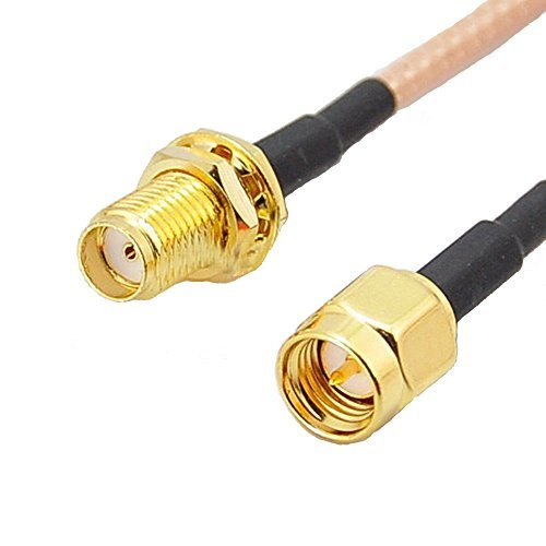 Rg316 Coaxial Cable (Generic 3 feet SMA Male to SMA Female Bulkhead Crimp RG316 Cable Jumper Pigtail 1M)