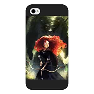 Customized Black Frosted Disney Brave Princess Merida iPhone 4 4s case by ruishername