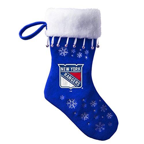NHL New York Rangers Full Embroidered Snowflake Stocking af2b3bc8652b