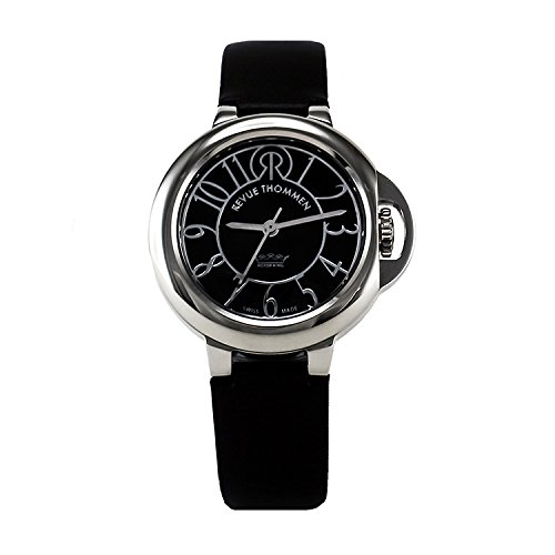 REVUE-THOMMEN-Womens-1090104-Cosmo-Lifestyle-Analog-Display-Swiss-Automatic-Black-Watch