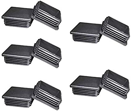 10 Pcs 2 Inch Square Tubing Black Plastic Plugs 2 End Cap Fence Post Pipe Cover Tube Chair Glide Insert Finishing Plug Amazon Com