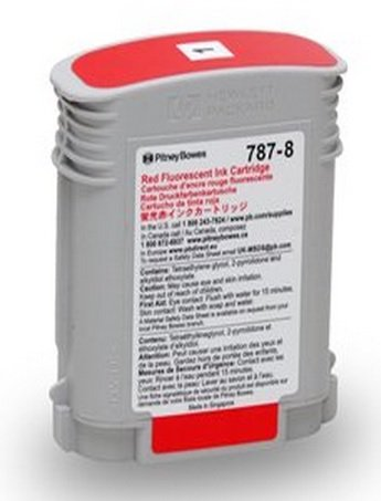 Genuine Original Pitney Bowes Brand 787-8 Large Fluorescent Red Ink Cartridge for Connect+ 1000/2000/3000 Series