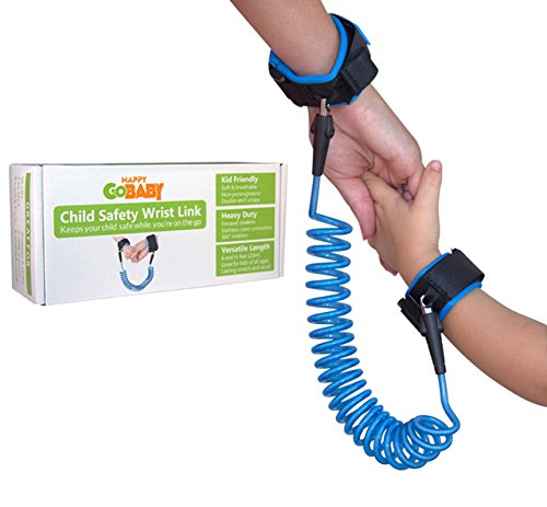 HAPPY GOBABY Child Safety Wrist Link, Anti Lost Toddler Leash and Walking Harness for Baby and Kids, 6.5 feet (2.0m) in Trailblazer (Wrist Tether)