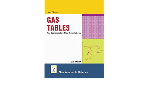 Nice Gas Tables : For Compressible Flow Calculations: S.M. Yahya: 9781906574949:  Amazon.com: Books