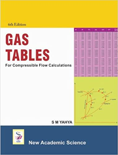 Elegant Gas Tables : For Compressible Flow Calculations 6th Revised Edition Edition