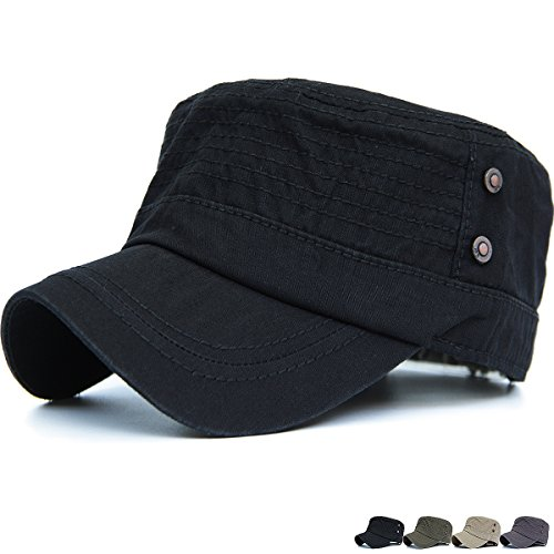Rayna Fashion Unisex Adult Cadet Caps Military Hats Various Style and Colors Skull Cadet Hat