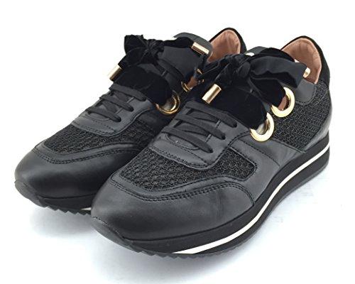 TWIN SET , Damen Sneaker schwarz schwarz