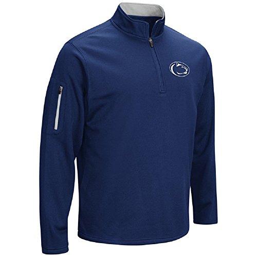 Colosseum Men's VF Poly Fleece 1/4 Zip Pullover-Penn State Nittany Lions-Navy-Large (State Penn Pullover)