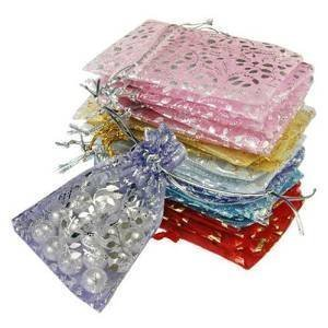 DMS RETAIL Organza Return Gift Bags/Wedding Party Favor/Jewellery Pouch - Pack of 50