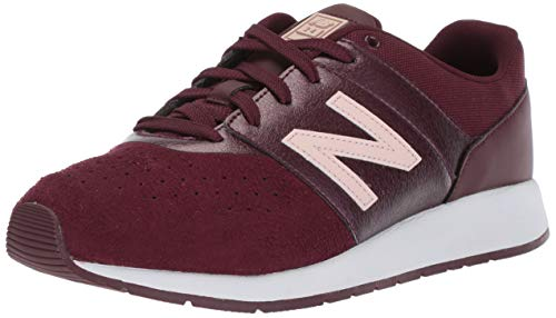 New Balance Girls' 24v1 Sneaker, Chocolate Cherry/Conch Shell, 2 M US Little Kid