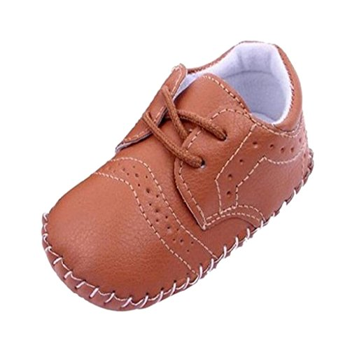 1par Zapatos de Bebé Niño Infantil Cuna Zapatos Caminante PU Cuero - Blanca , 12 11