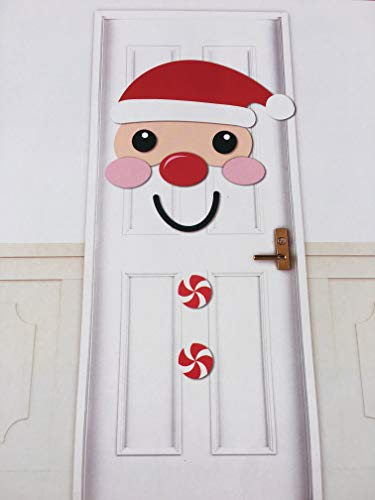 Christmas Santa Clause Front Door or Wall Cover Decoration
