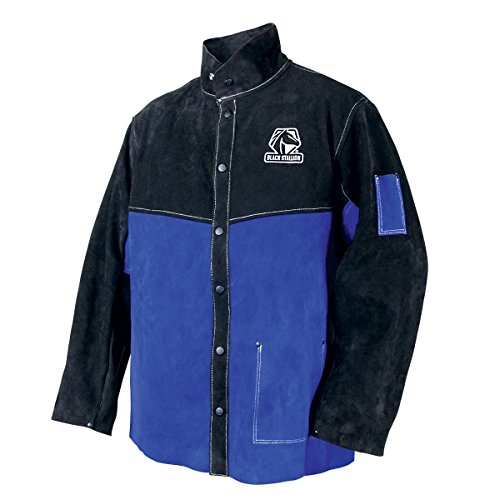 Black Stallion JL1030-BB Color Block Leather Welding Jacket, Large by Black Stallion