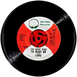 "LOBO Record Label Photo Print,""I'D LOVE YOU TO WANT ME"",2.25 Inch Pocket Mirror, Refrigerator Magnet or Pinback Button"