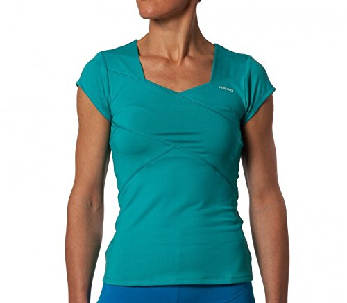 Head Stream V-neck T-Shirt Women FS14 Verde verde Talla:S