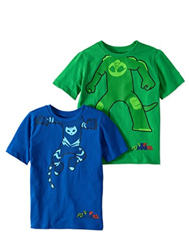 PJMASKS PJ Masks Short Sleeve T-Shirt - 2 Pack of Catboy & Gekko Short Sleeve Headless T-Shirts (4)