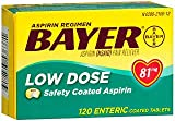 Bayer Low Dose Safety Coated Aspirin 81 mg Tablets - 120 ct, Pack of 5