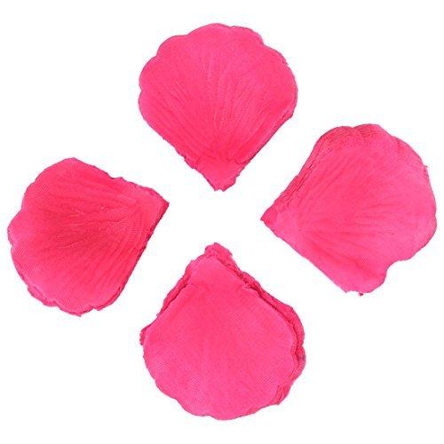 Emulational Tecido Rosa da ptala da flor 100 Pcs Fuchsia