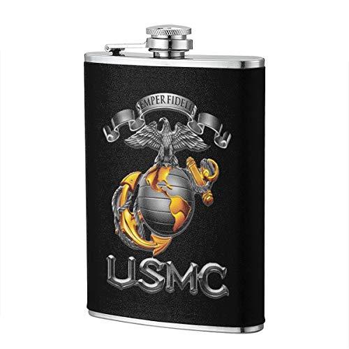 USMC Semper Fidelis Patriotic Hip Flask for Liquor Flask Wine Flagon Mug Funny Novelty 8oz