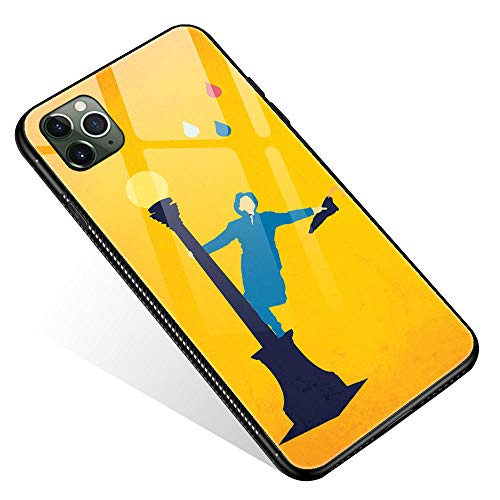 iPhone 11 Case,Tempered Glass iPhone 11 Cases Singing in The Rain for Women Girls Boys, Pattern Design Shockproof Anti-Scratch Case for Apple iPhone 11